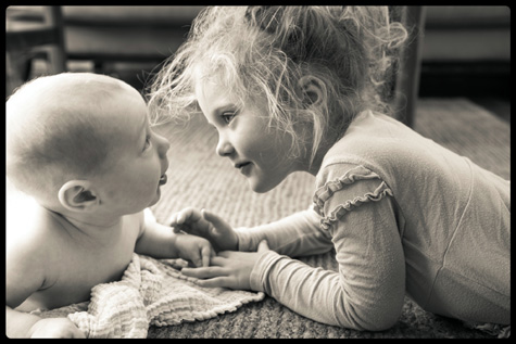 Baby & Sister Photo by Diane Rieger