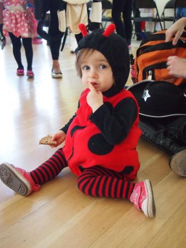 Young Girl in Ladybug Costume