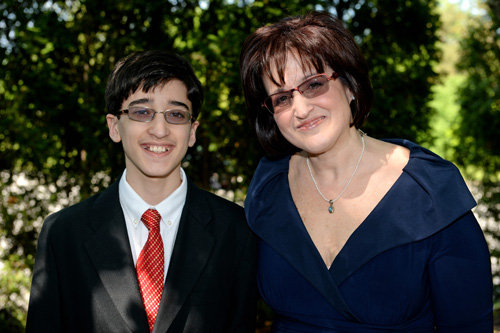 Lisa Danielpour and her son