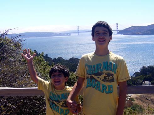 Brothers Having Fun Hiking