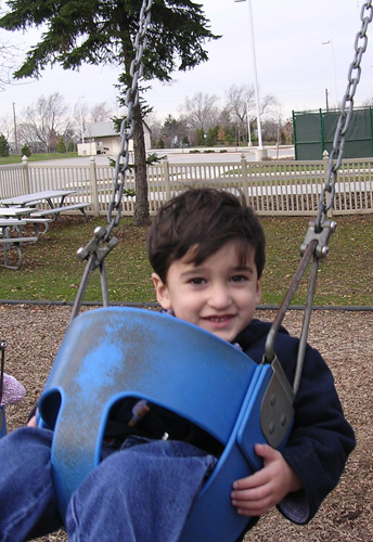 Toddler in a Swing