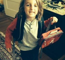 Excited New Kindergarten Student
