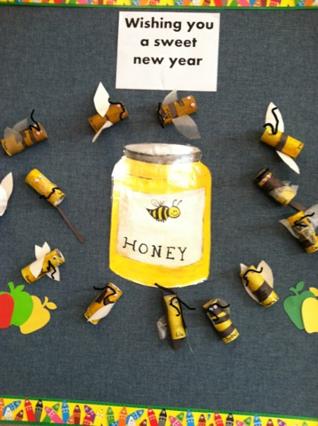Rosh Hashanah Fun Bee Display