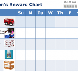 Childs Reward Chart Sample